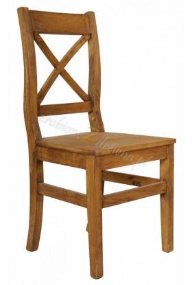 Krzesło z litego drewna Hacienda 02 w stylu retro