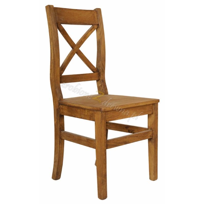 Krzesło z litego drewna Hacienda 02 w stylu retro>                                         <span class=