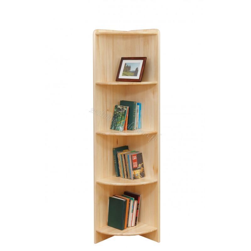 Regał rogowy drewniany Klasyczny 54 do salonu>                                         <span class=