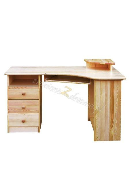 Biurko narożne drewniane Klasyczne 01 do gabinetu