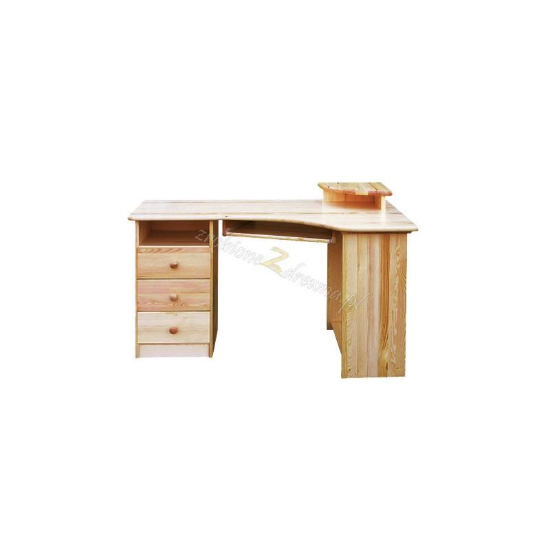 Biurko narożne drewniane Klasyczne 01 do gabinetu>                                         <span class=
