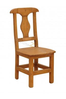Krzesło z litego drewna Hacienda 05 w stylu retro
