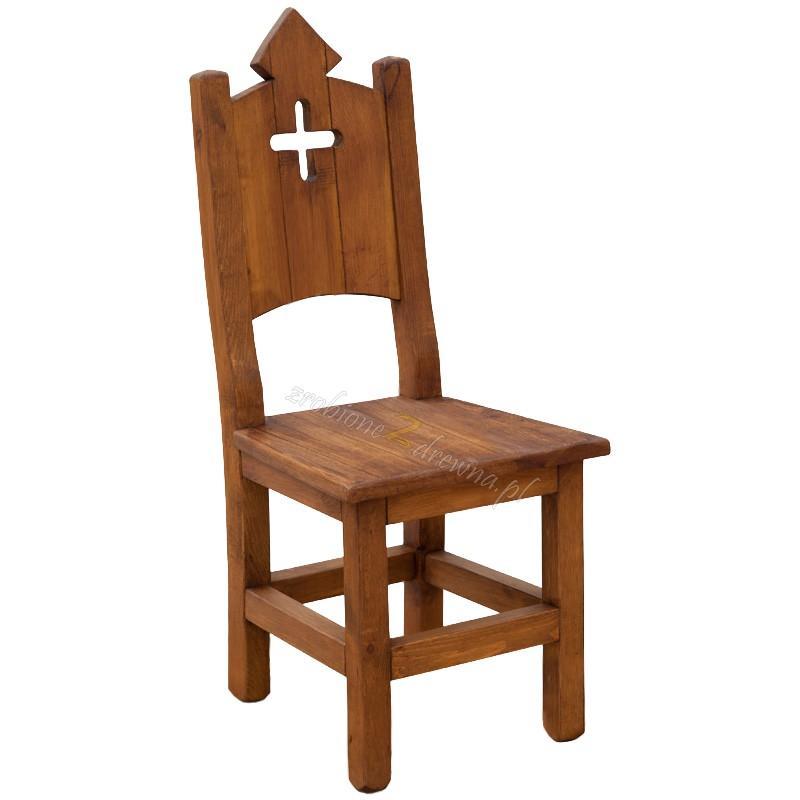 Woskowane krzesło sosnowe Hacienda 06 do salonu lub kuchni>                                         <span class=