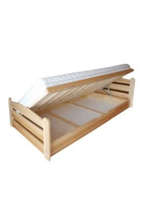 Łóżko drewniane podnoszone Klasyczne 04 do sypialni
