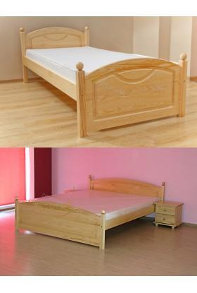 Łóżko Klasyczne 06 z litego drewna sosnowego