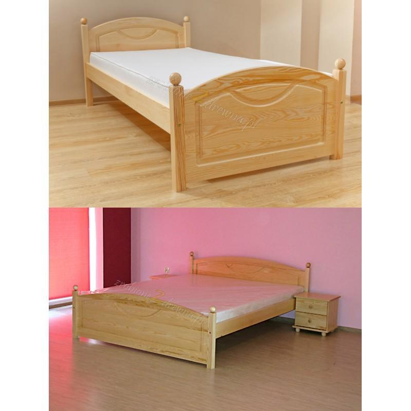 Łóżko Klasyczne 06 z litego drewna sosnowego>                                         <span class=