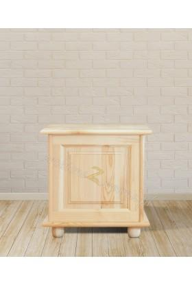 Kufer drewniany Klasyczny 01 do sypialni otwierane wieko