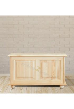 Kufer sosnowy Klasyczny 02 do sypialni otwierane wieko