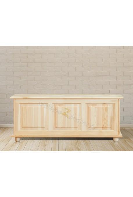 Kufer Klasyczny 03 z litego drewna sosnowego podnoszone wieko