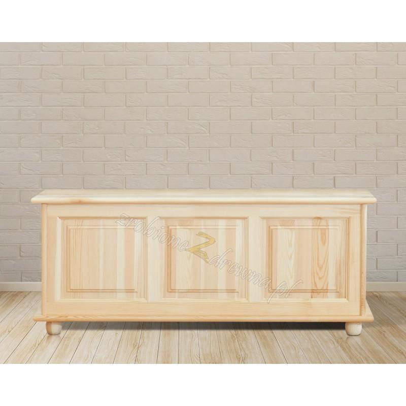 Kufer Klasyczny 03 z litego drewna sosnowego podnoszone wieko>                                         <span class=