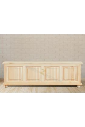 Kufer drewniany Klasyczny 04 do sypialni podnoszone wieko