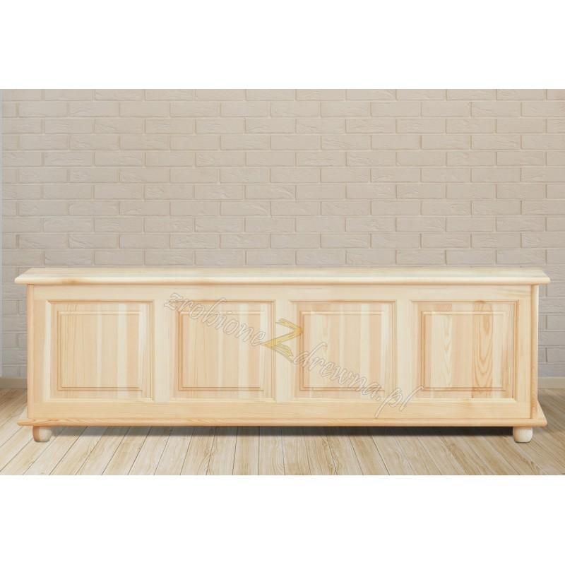 Kufer drewniany Klasyczny 04 do sypialni podnoszone wieko>                                         <span class=