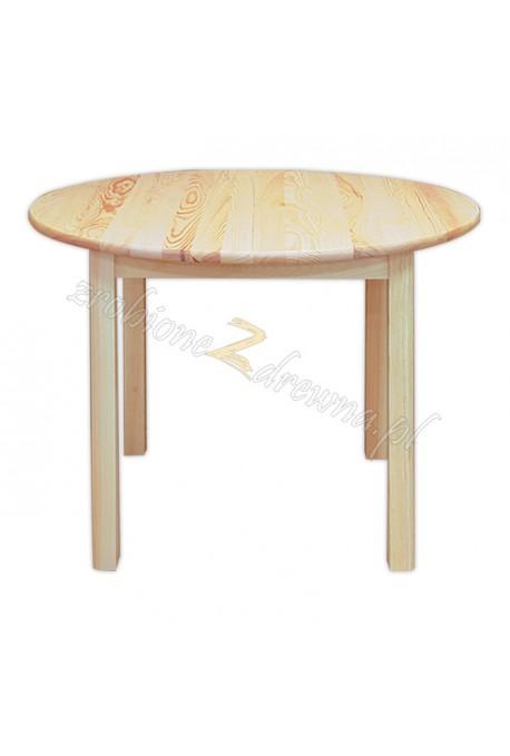 Stół okrągły Klasyczny 04 z litego drewna sosnowego