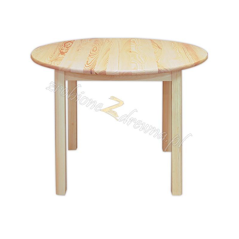 Stół okrągły Klasyczny 04 z litego drewna sosnowego>                                         <span class=