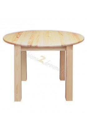 Stół okrągły Klasyczny 07 z litego drewna sosnowego