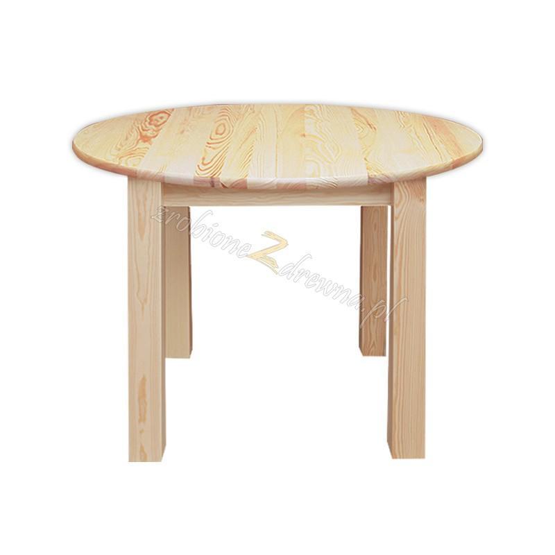 Stół okrągły Klasyczny 07 z litego drewna sosnowego>                                         <span class=