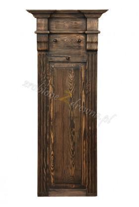 Rustykalny wieszak drewniany Hacienda 01 do przedpokoju
