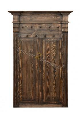 Wieszak z litego drewna Hacienda 02 w stylu retro