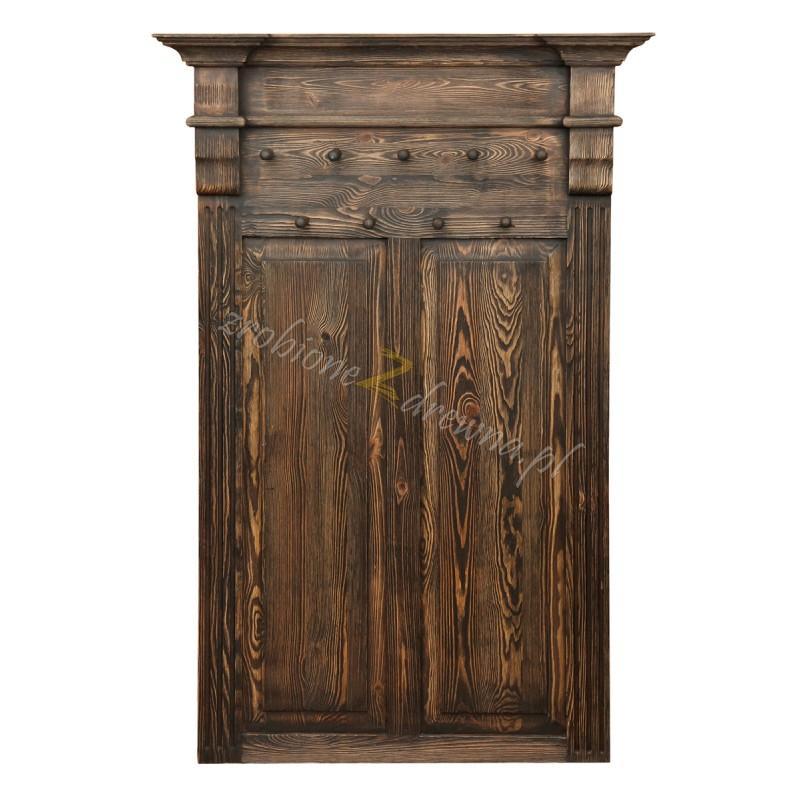 Wieszak z litego drewna Hacienda 02 w stylu retro>                                         <span class=