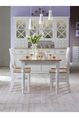 Biały kredens drewniany Nicea 02 w stylu prowansalskim