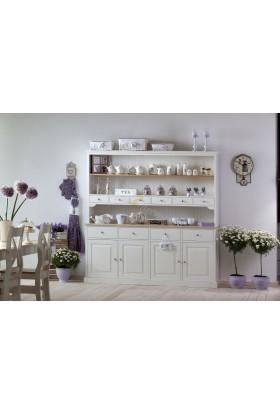 Biały kredens kuchenny Nicea 04 z litego drewna