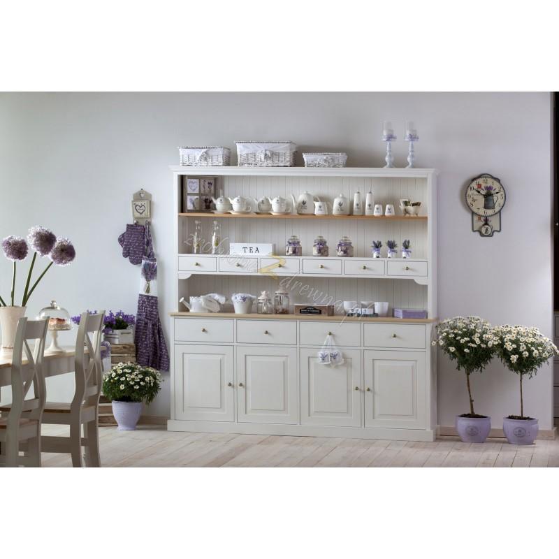 Biały kredens kuchenny Nicea 04 z litego drewna>                                         <span class=