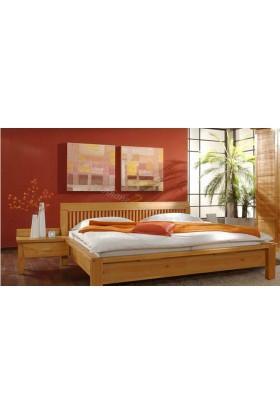 Nowoczesne łóżko Genua 07 z litego drewna