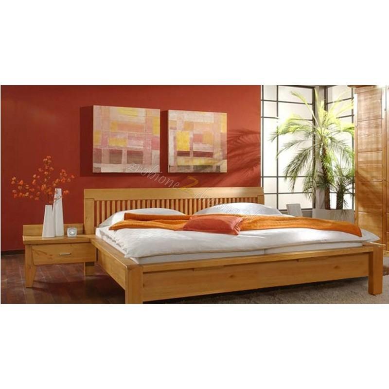Nowoczesne łóżko Genua 07 z litego drewna>                                         <span class=