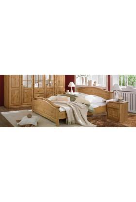 Drewniane łóżko Genua 08 w stylu skandynawskim