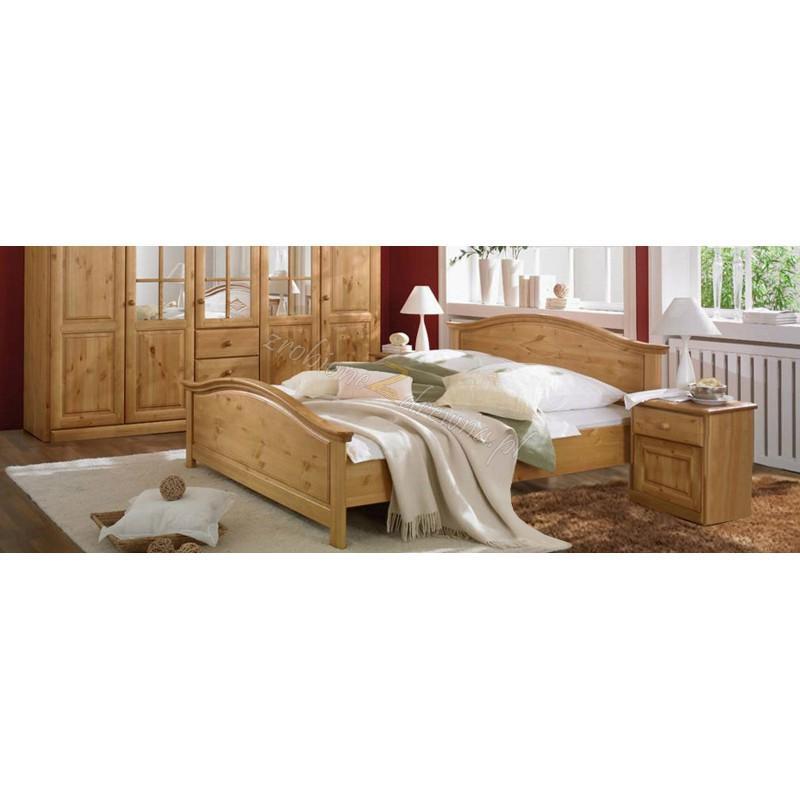 Drewniane łóżko Genua 08 w stylu skandynawskim>                                         <span class=