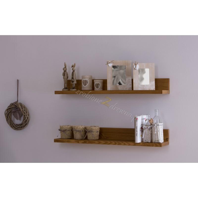 Pojedyńcza półka drewniana Genua 05 do pokoju dziecięcego>                                         <span class=