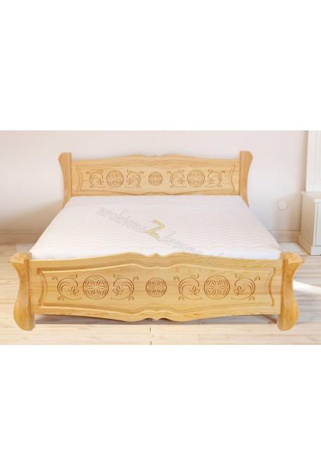 Drewniane łóżko Góralskie 33 do sypialni
