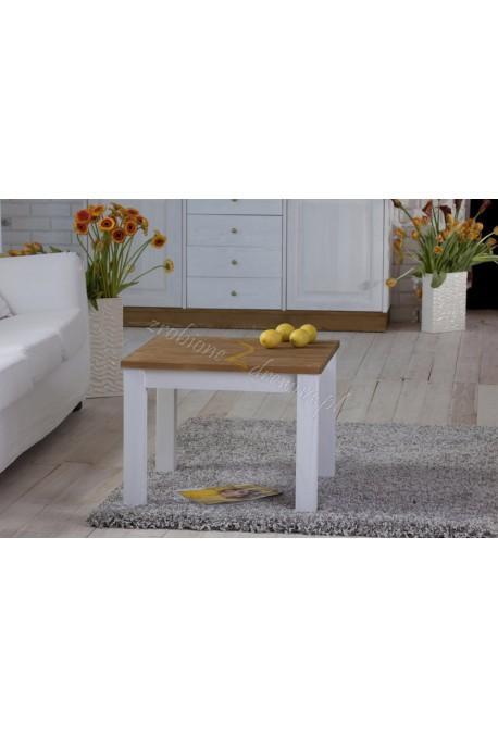 Biały stolik drewniany Roma 36 do salonu