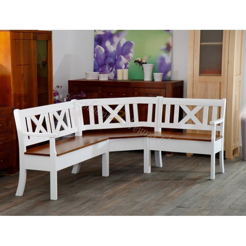 Drewniana ławka narożna Roma 40 do kuchni>                                         <span class=