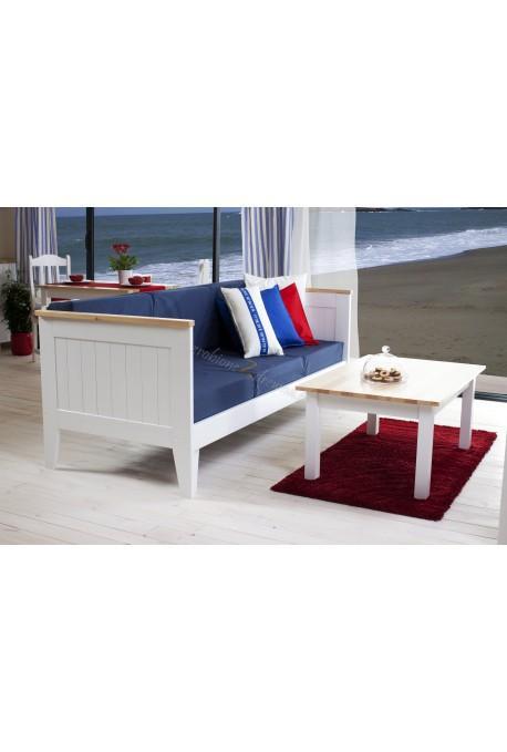 Biała sofa rozkładana Siena 15 w stylu skandynawskim