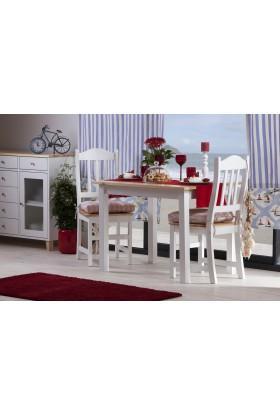 Biały stół sosnowy Siena 19 do kuchni lub jadalni