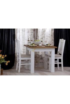 Biały stolik Roma 35 z litego drewna