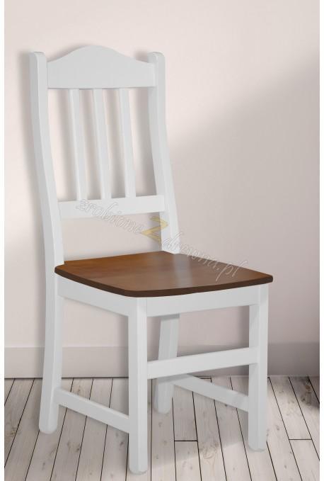 Drewniane krzesło bielone Roma 37 do kuchni