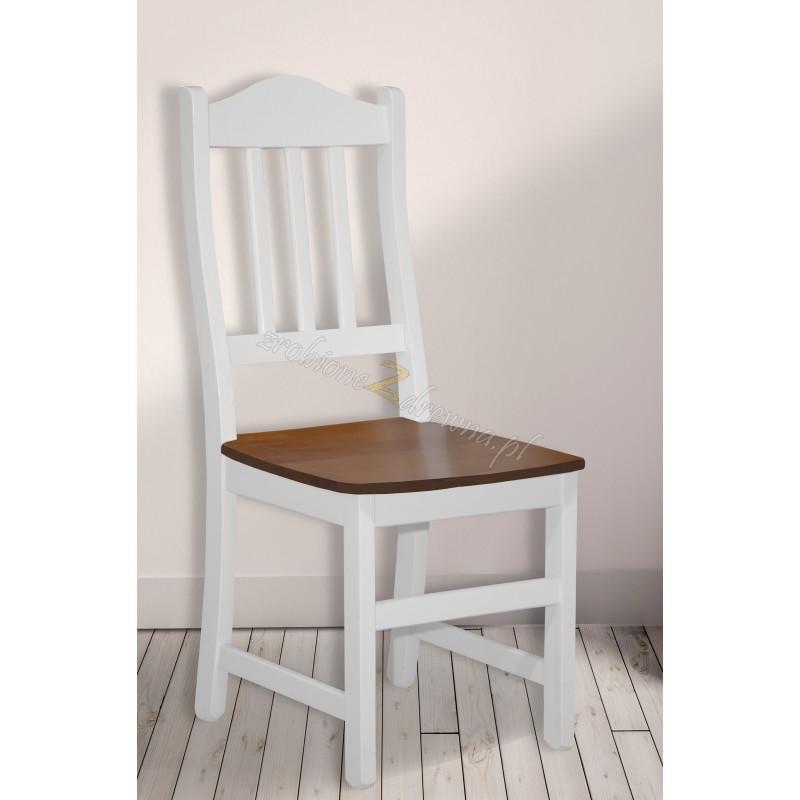 Drewniane krzesło bielone Roma 37 do kuchni>                                         <span class=