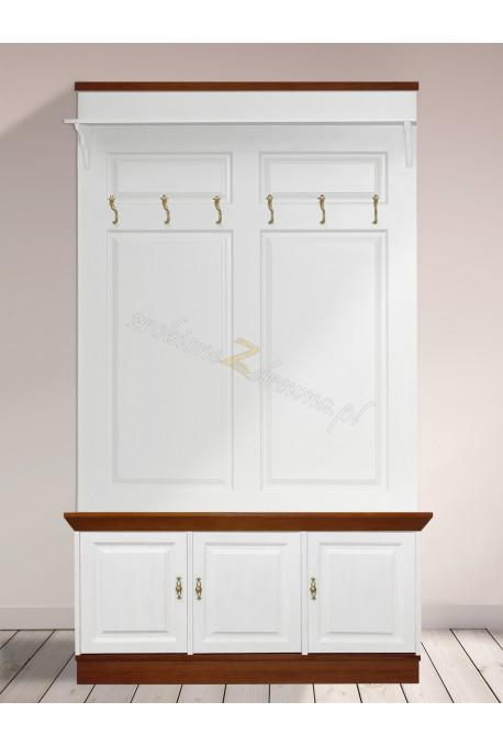 Drewniana garderoba bielona Roma 22 do przedpokoju