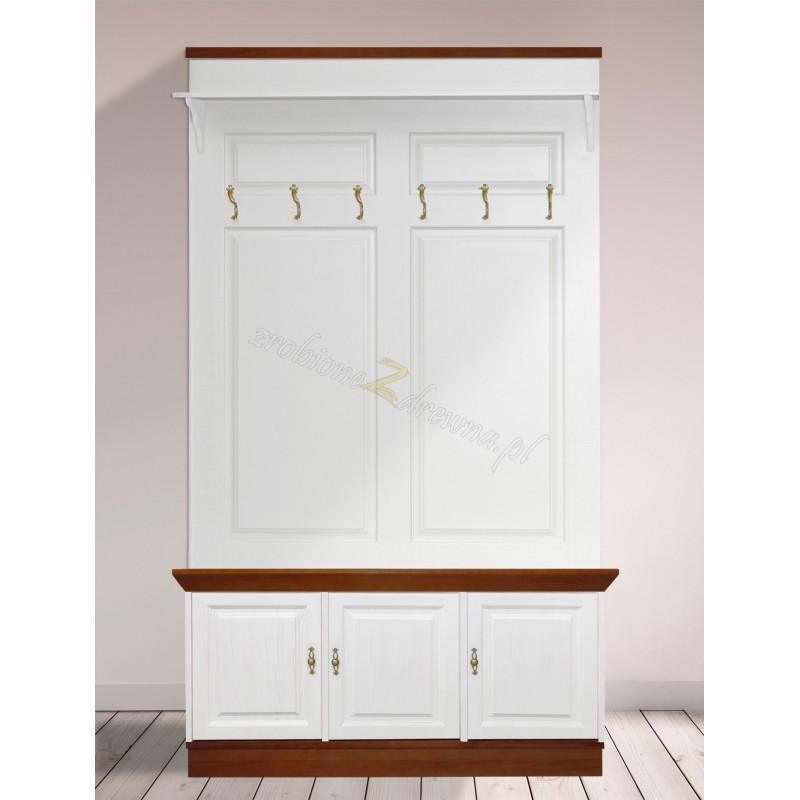 Drewniana garderoba bielona Roma 22 do przedpokoju>                                         <span class=