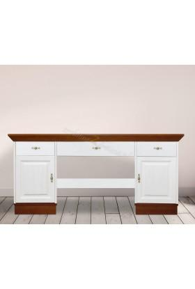 Białe biurko Roma 26 z litego drewna