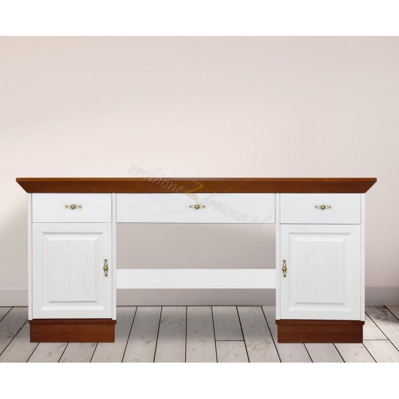 Białe biurko Roma 26 z litego drewna>                                         <span class=