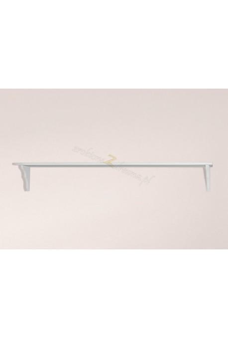 Biała półka drewniana Roma 27 do salonu