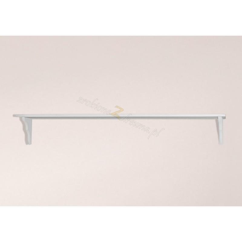 Biała półka drewniana Roma 27 do salonu>                                         <span class=