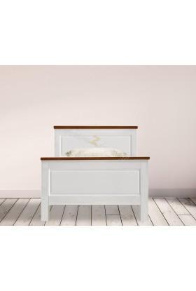 Drewniane łóżko bielone Roma 28 do sypialni