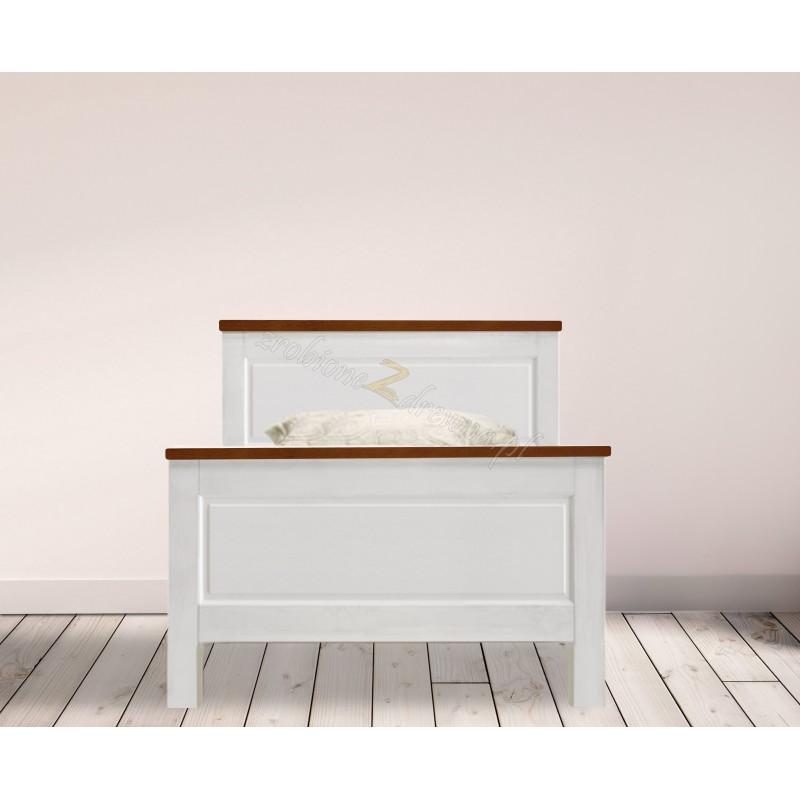 Drewniane łóżko bielone Roma 28 do sypialni>                                         <span class=