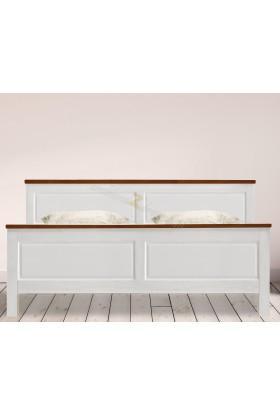 Białe łóżko Roma 29 z litego drewna