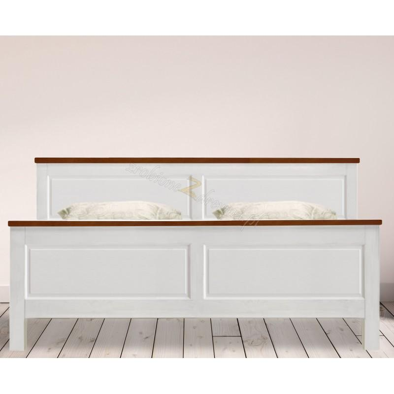 Białe łóżko Roma 29 z litego drewna>                                         <span class=