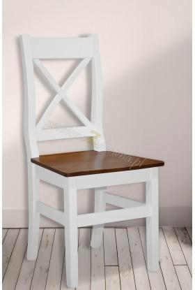 Białe krzesło drewniane Roma 39 do salonu